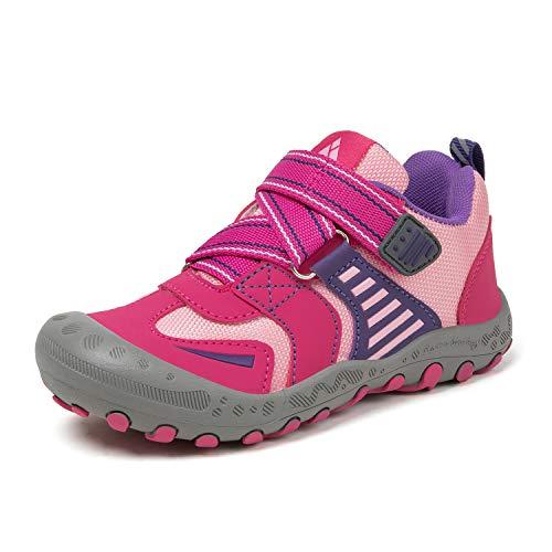 Mishansha Girls Hiking Shoes Breathable Low Top Trekking Sneakers Outdoor Running Climbing Trail Toddler 7.5 US Rose Pink