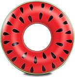 JIAHG Flotadores para adultos Donut Flotador 75 cm inflable donut Sandía Rojo Flotador flotador flotador flotador flotador flotador de agua colchón de aire cojín para piscina playa