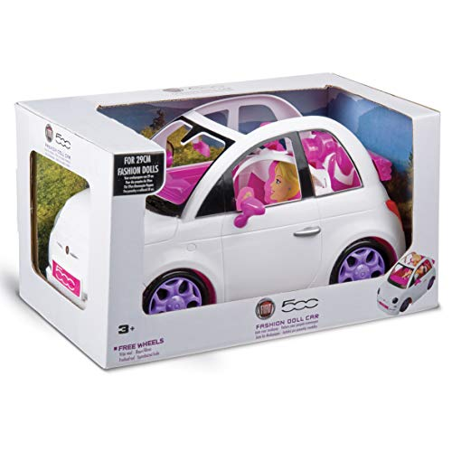Grandi Giochi Fiat 500 - Coche para Fashion Doll, Color Blanco, 3 años +, GG00620