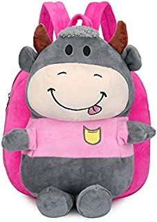 GMKJ Children's Cartoon Backpack Children's Cartoon Cute Plush Shoulder Bag (Color : Brown)