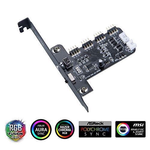 Akasa Vegas Eingebaut Schnittstellenkarte/Adapter - Schnittstellenkarten/Adapter (PCIe, PC, Schwarz, SATA, 12V, 1A, Schwarz)