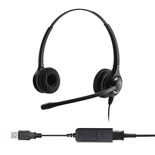 Project Telecom Professional Binaural Noise Cancelling USB Headset | Compatible With Acer Nitro