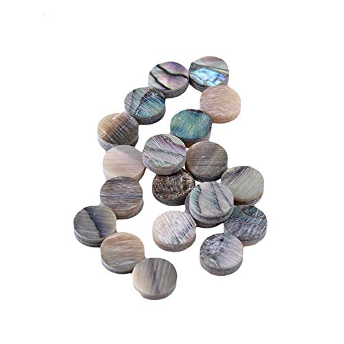 Yibuy 6mm Multicolor Abalone Perlmutt Shell Griffbrett Punkte mit Inlay Material f¨¹r Gitarre Pack von 20