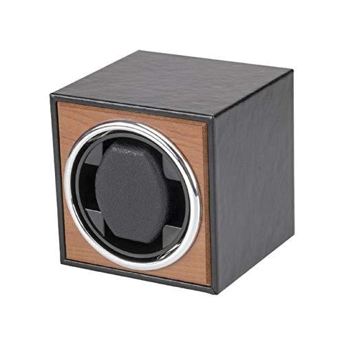 Automatikuhren Lederoberfläche Rotationsmodus Single Watch Winder Box Mit Super Leisem Motor Shaker Rocker Lagerung Vitrine Für Einzeluhr Laufleise Sichtfenster (Color : A Black)