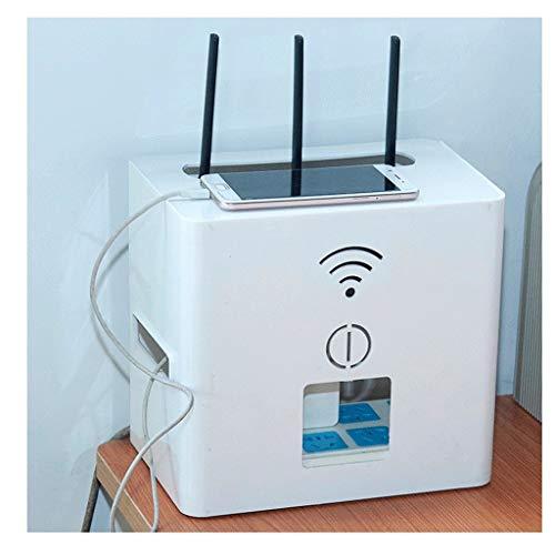 Soporte Altavoces Pared Router Wifi óptico Cat set-top box zócalo de energía de la caja del estante de almacenamiento utilizado for cubrir y ocultar el cable de alimentación y el cable de Gestión de c