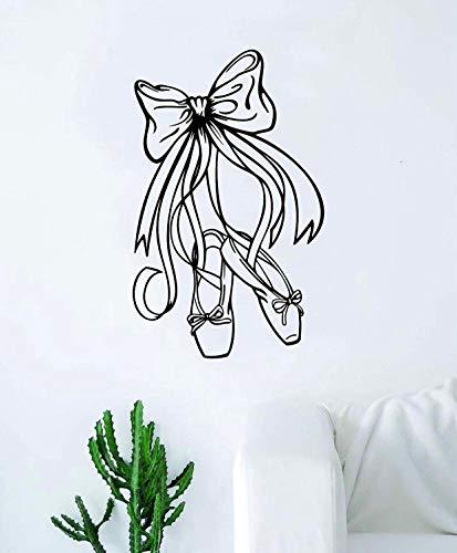 Calcomanía para pared de zapatos de baile, para dormitorio, hogar, habitación, decoración inspiradora para adolescentes y niñas de ballet, bailarinas o guarderías