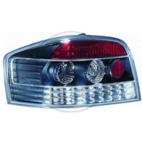 Achterlichten SET A3, helder glas/zwart / 3-deurs (helder glas met LED)