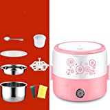 Elektrische Lunchbox, Plug-in-elektrische Heizung isolierte Lunchbox, große Kapazität 2-3 Personen Edelstahl-Automatik Reiskocher,A