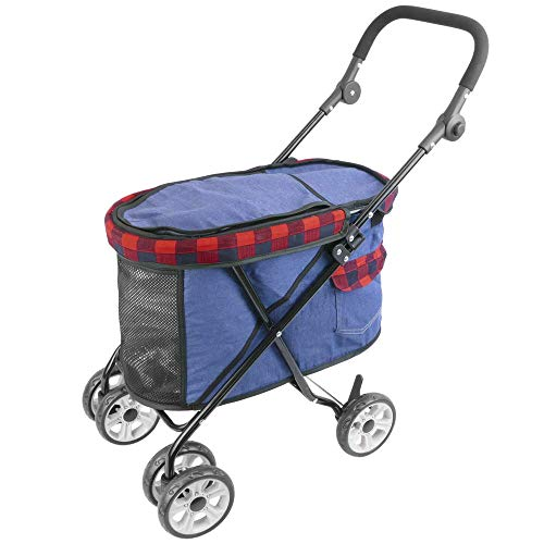 PrimeMatik - Carrito de niños para Transportar Perros, Gatos y Mascotas. Color Rojo
