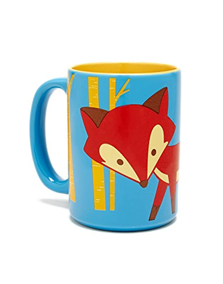 Kitsch'n Glam Foxy Mug 16 Oz Ceramic Cup - Microwaveable, Dishwasher Safe