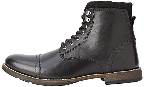 find. Max Herren Zip Worker Biker Boots, Schwarz (Smart Black), 45 EU