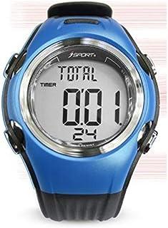 LINGJIA Pulsómetros Correr Ciclismo Monitor De Ritmo Cardíaco Rastreador De Ejercicios Deportes Inalámbricos Digitales Relojes Polares Correa para El Pecho Hombres Mujeres Reloj Deportivo/Azul