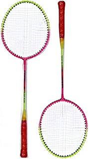 Port JUR510 Multicolor Strung Badminton Racquet (G4-3.25 Inches, 160 g) [Pack of 2 with Cover]