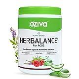 OZiva Plant Based HerBalance for PCOS (with Chasteberry, Shatavari, Red Raspberry, Ashoka) for better cycle and hormonal balance, 250g