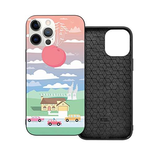 The Simpsons And The Giant Peach - Carcasa a prueba de golpes compatible con iPhone 12 y iPhone 12 Pro funda protectora de 6,1 pulgadas