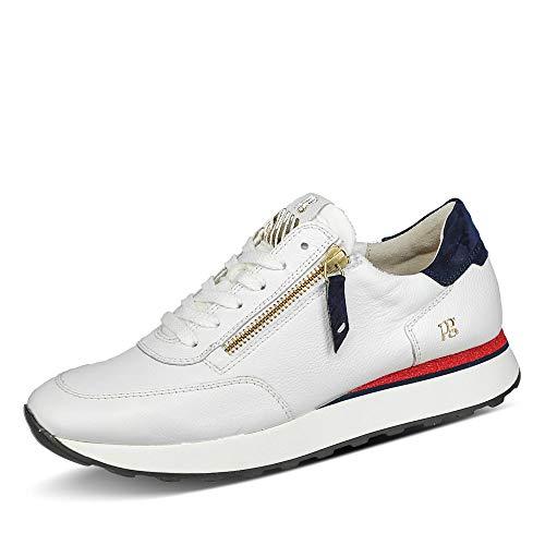 Paul Green Damen 4980 Sneaker Low ohne Absatz weich gepolstert Glattleder rund, Groesse 39, weiß