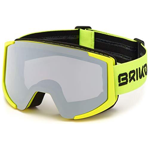 Briko Lava XL FIS, Goggles Unisex Adult, 943MATT Yellow FL-SM3, ONE