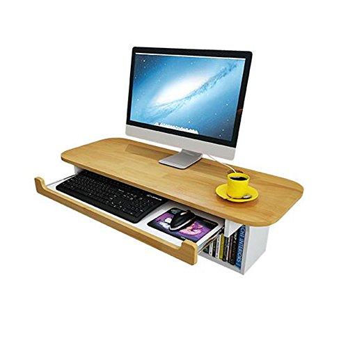 CHGDFQ Escritorio de ordenador de almacenamiento montado en la pared, estante de almacenamiento compacto, escritorio de ordenador portátil, mesa de muebles de oficina en casa