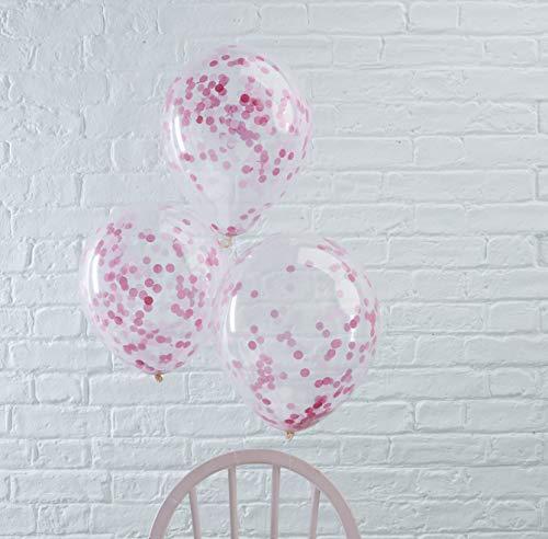 Ginger Ray Hochzeit Geburtstag Luftballon Konfetti 5 Stck. pink