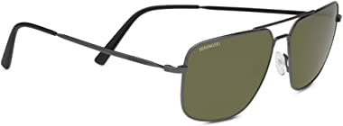 Serengetti Sport Sunglasses Agostino Metal Shiny Dark Gunmetal 555Nm, Multi, One Size (8827)