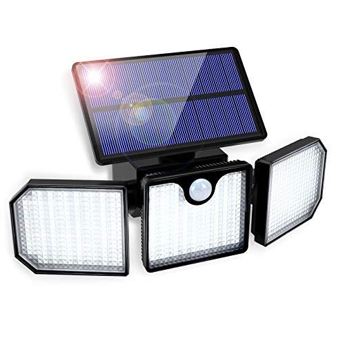 Solarlampen für Außen, GolWof 230 LED Solarleuchte für Außen mit Bewegungsmelder【270° Dreiseitige Beleuchtung, 2200mAh】IP65 Wasserdicht Wandleuchte Solar Aussenleuchte für Garten Patio Garage