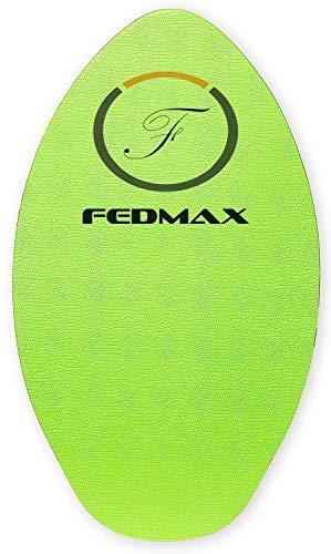 "Fedmax Wood Skimboard with IXPE Foam Traction, No Wax Needed | Green, 41"" (120lbs. - 220lbs.) | Skim Board for Kids/Adults."