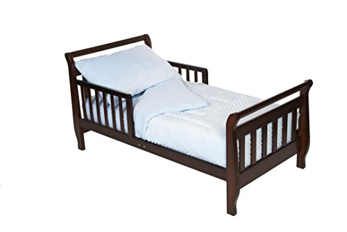 American Baby Company Minky Dot Chenille 4-piece Toddler Bed Set, Blue by American Baby Company