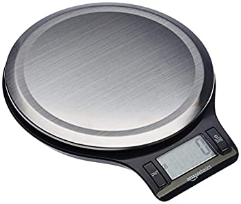 Amazon Basics Stainless Steel Digital Kitchen Scale with LCD Display Batteries Included