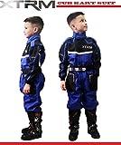 Kinder Kart Anzug XTRM Motorrad Quad Off-Road Suit Kinder Cross Sports Rennanzug für Motocross, Dirt Bike MX ATV PITBIKE Kart Motorroller Overall (Blau,L)