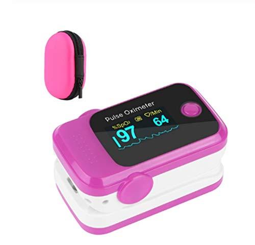Pulso Portable Dedo oxímetro de Pulso Digital oxímetro SPO2 del Ritmo cardíaco PR Saturimetro Oxímetro (Color : M100 Red Bag)