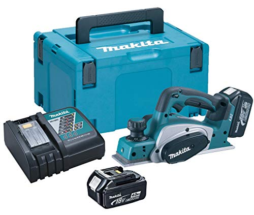 MAKITA 0088381674263 Cepillo, 18 V, Negro, 82mm