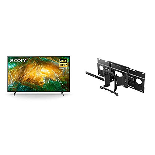Sony X800H 65 Inch TV: 4K Ultra HD Smart LED TV with HDR and Alexa Compatibility - 2020 Model and Ultra Slim Wall-Mount Bracket for Select Sony BRAVIA OLED and LED TVs