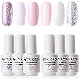 Gellen Baby Pinks Colors Gel Nail Polish Set - Pure Adorable 6 Colors