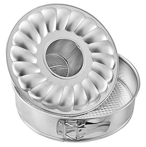Zenker 6809 Springform mit Flach- und Rohrboden Ø 28 cm, silver