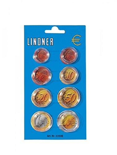 LINDNER Das Original Display de 8 Capsules pour Une série de pièces Euro courantes, Paquet de 100