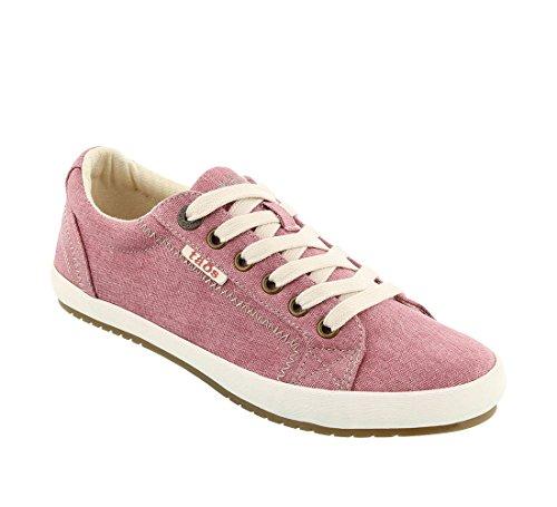 Taos Footwear Women's Star Rose Wash Canvas Sneaker 7 M US
