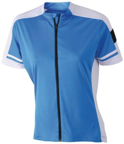 James & Nicholson Radtrikots Bike-T Full Zip Camiseta de Ciclismo, Mujer, Cobalto,...