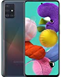 """Samsung Galaxy A51 5G A516U Android Cell Phone   US Version   128GB Storage   Long-Lasting Battery for Gaming, 6.5"""" Infinity Display, Quad Camera   Black - AT&T Locked - (Renewed)"""