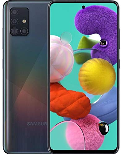 Price comparison product image Samsung Galaxy A51 5G A516U Android Cell Phone / US Version / 128GB Storage / Long-Lasting Battery for Gaming,  6.5 Infinity Display,  Quad Camera / Black - AT&T Locked - (Renewed)