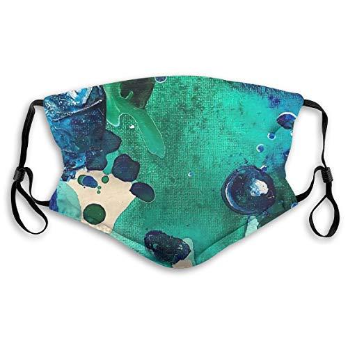 Wuyouhua Yiayatee The Wonders Of The World, Tiny World Collection Waschbare Mode Staubdicht Reitgesichtstuch, Verstellbare Hängeohren S