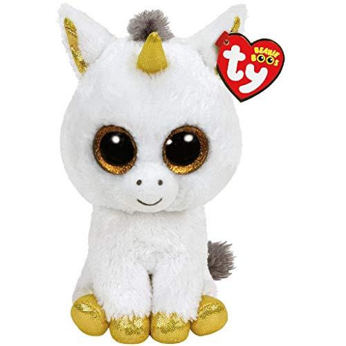 Ty Glubschis - Pegasus Einhorn, weiß/gold - Beanie Boos - 24 cm