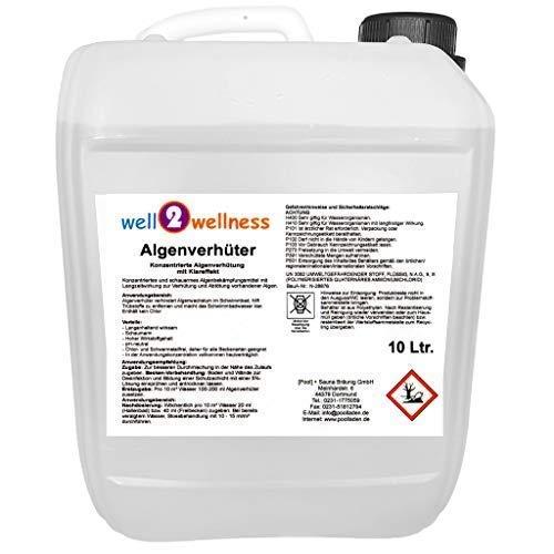 Pool Prevenir las Algas + Algicida 10,0L - Concentrado + sin Espuma