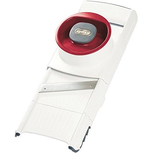 ZYLISS 4-in-1 Küchenhobel mit 4 austauschbaren Schneideinsätzen für Reiben und Schneiden. Kompakt verstaubar. Mit Fingerschutz. Länge: 22 cm