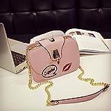 Bolsos Mujer Bolso De Hombro De Cadena para Mujer Bolsos De Capa con Solapa De Marca Bolso De Embrague De Moda Lápiz Labial para Mujer Hebilla Crossbody Messenger Bag Pink