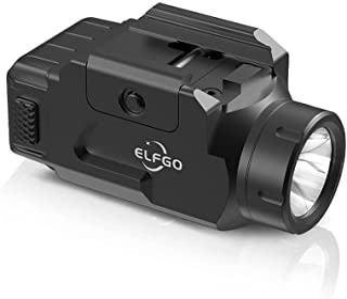 ELFGO Compact Rail Mounted Light, 600 Lumens Mini Tactical Flashlight Strobe Weapon Light with 5 Rail Locating Keys Gun Li...