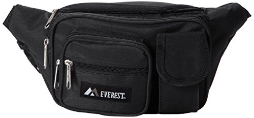Everest – Riñonera con múltiples bolsillos, Riñonera con múltiples bolsillos, Negro, Una talla
