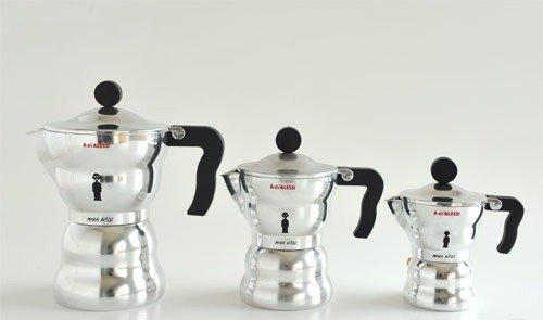 """Great Price! """"Moka Alessi"""" Espresso / Coffee Maker Size: 6.5″ H x 3.75″ W x 3.75″ D"""