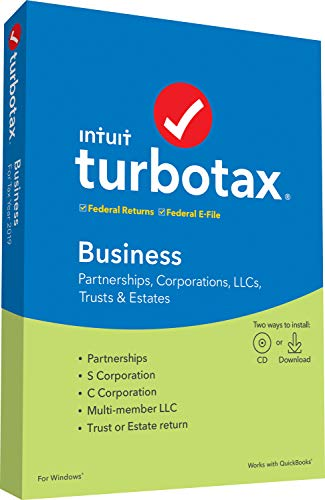 TurboTax Business 2019 Tax Software [PC Disc]