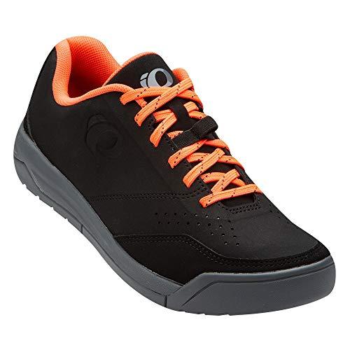 PEARL IZUMI Women's X-Alp Flow Cycling Shoe, Black/Fiery Coral, 39.0
