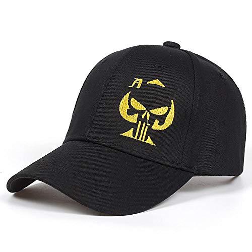 GorrasDeHombre Sombreros Gorra Punisher Skull Sniper Hat Gorra De Béisbol Negra Bordada Sombrero Hombres Mujeres Gorra Deportiva Blackyellow